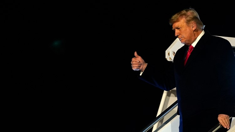 Trump takes no responsibility for riot during trip to South Texas