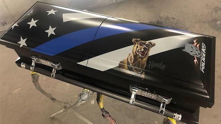 Hondo police K-9 coffin