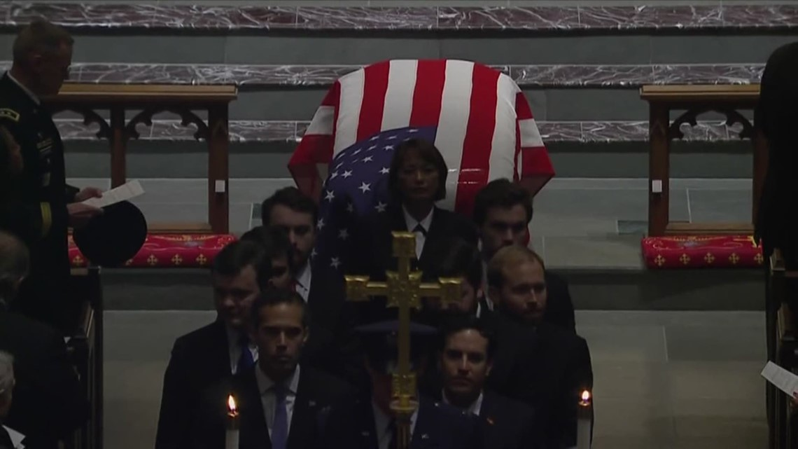 Full video of George H.W. Bush's funeral in Texas