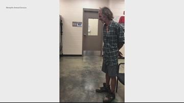 Homeless man and dog reunite