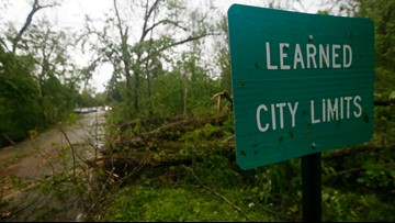 Storms roar through the South again, killing 2 in Mississippi