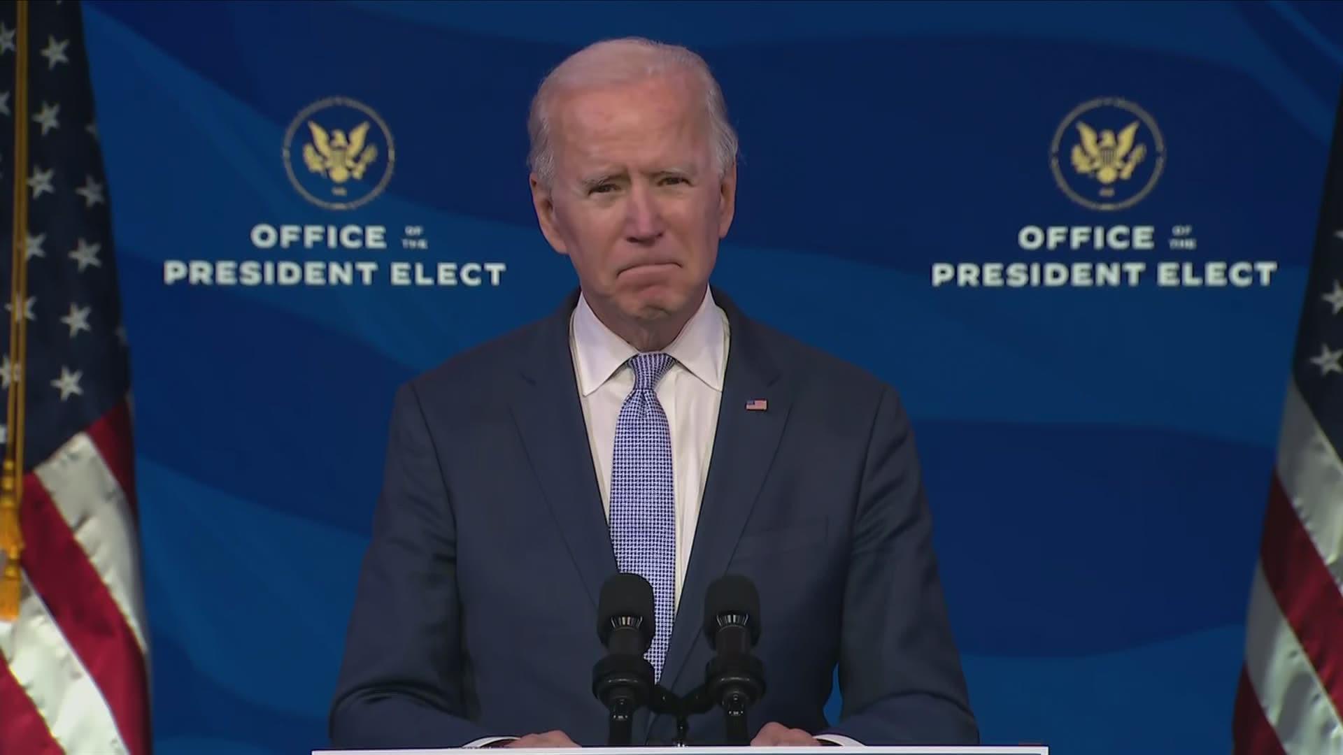 Biden demands Trump supporters to 'pull back,' urges decency | khou.com