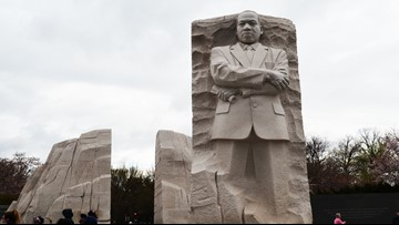 'Out of a mountain of despair, a stone of hope' | MLK Memorial brings famous speech to life