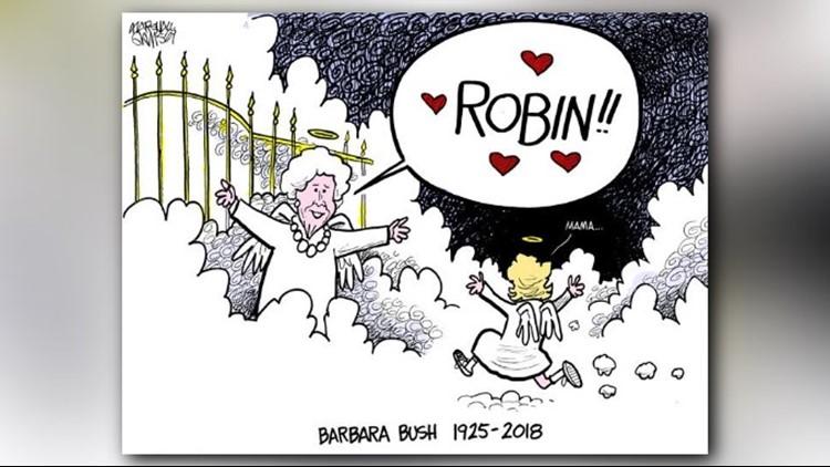 barbara bush cartoon
