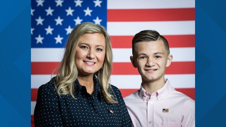 Kelli and Gage Hake from Stillwater, Oklahoma (White House)