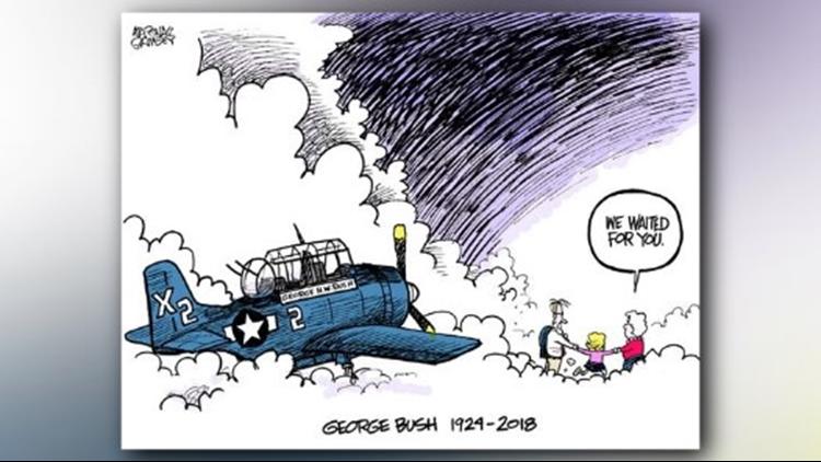 George HW bush cartoon