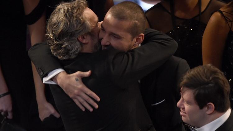 Joaquin Phoenix and Shia LaBeouf 92nd Academy Awards - Show