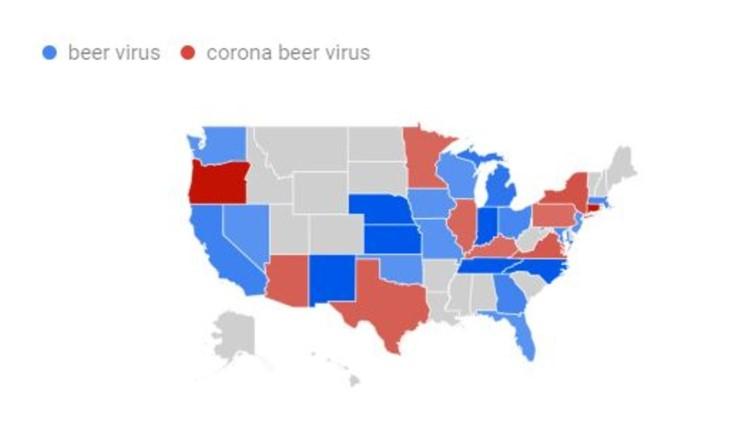 Google trends Coronavirus US