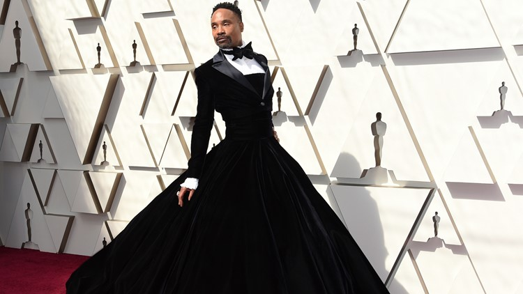 Billy Porter Oscars 2019 gown AP