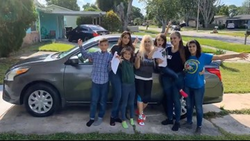 20-year-old raising 5 siblings gifted new car from strangers