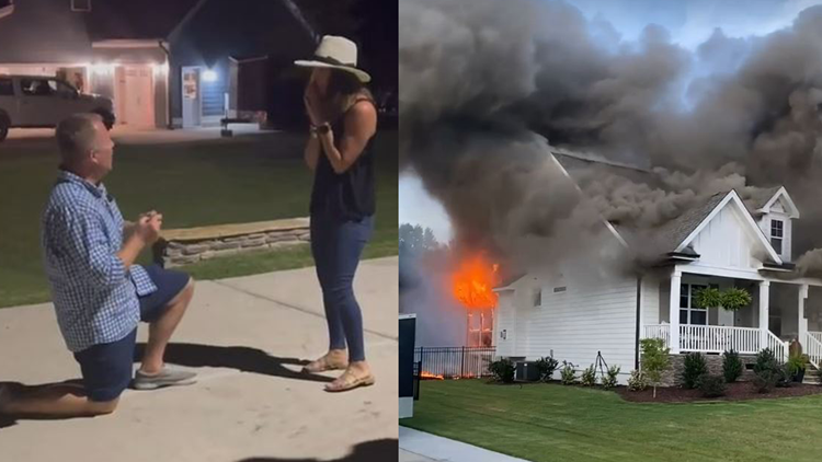 Boyfriend proposes after recovering engagement ring from rubble of burned home