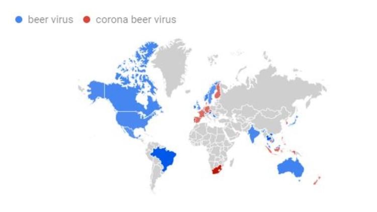 Google Trends coronavirus countries