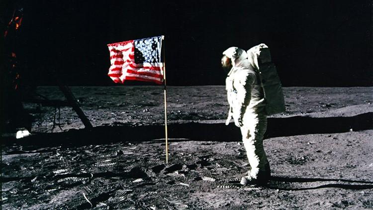 Buzz Aldrin flag
