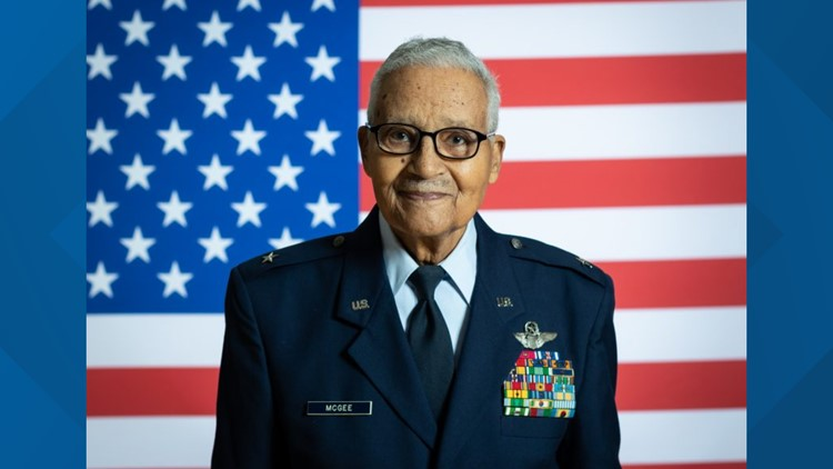 Retired Brigadier General Charles McGee from Bethesda, Maryland