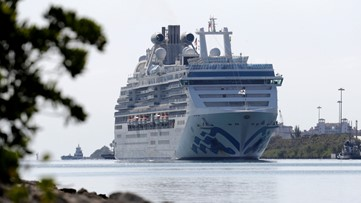 Another cruise ship with virus victims docks in Florida