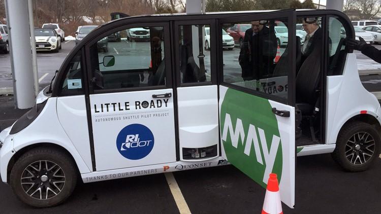 Autonomous Shuttle Police doors open Rhode Island
