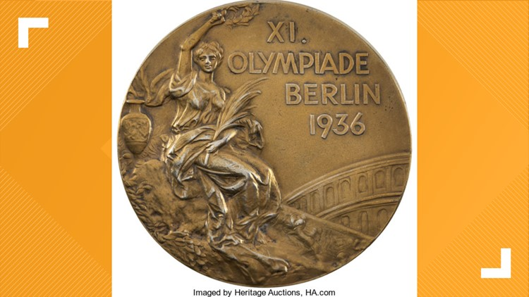 1936 Berlin Summer Olympics Gold Medal Presented to American Basketball Team Captain Bill Wheatley