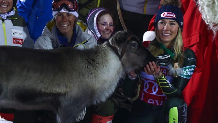 Shiffrin reindeer Finland Alpine Skiing World Cup