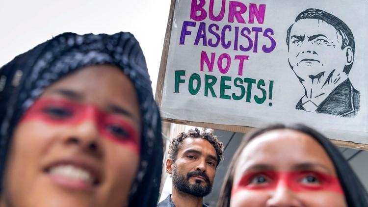 Switzerland Amazon Protest