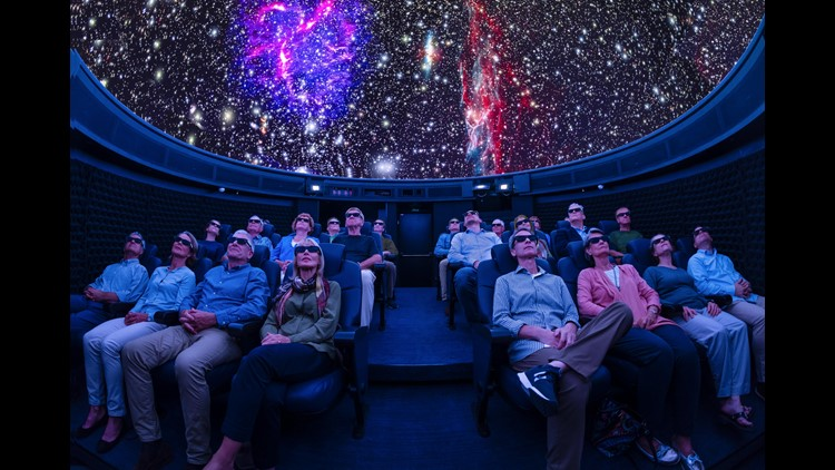 A new Viking Cruises ship debuting this week in Europe has a surprise feature: A high-tech planetarium.The 26-seat attraction at the top of the 930-passenger Viking Orion had been kept a secret while the vessel was under construction.