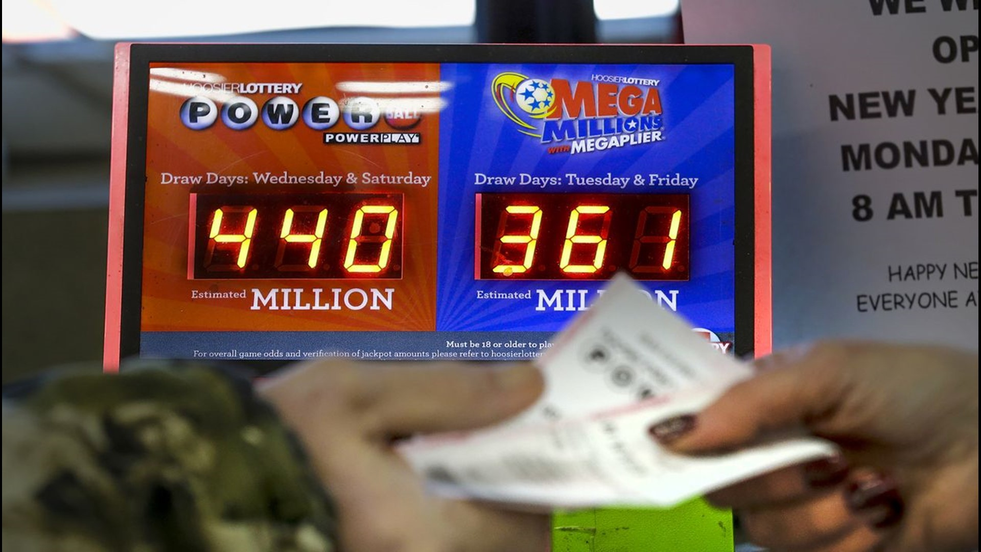 Winnings If Match One, Two, or Three Mega Millions Numbers |