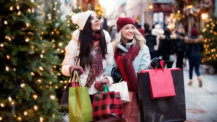 Christmas Shopping with two young women