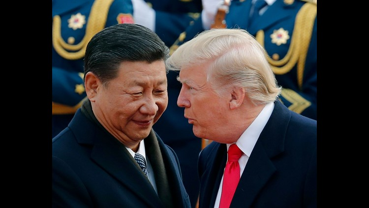 Trump with Chinese President Xi Jinping on Nov. 9, 2017.