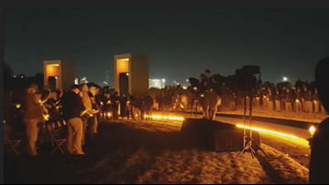 Unbroken circle: Aggies gather at Bonfire Memorial to honor the 12 lost in '99 collapse