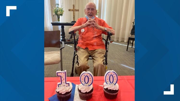 World War ll veteran and hero celebrates 100th birthday