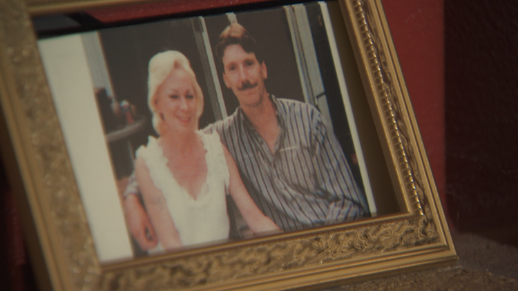 A photo of Jay Mitchell and his late wife Kathy