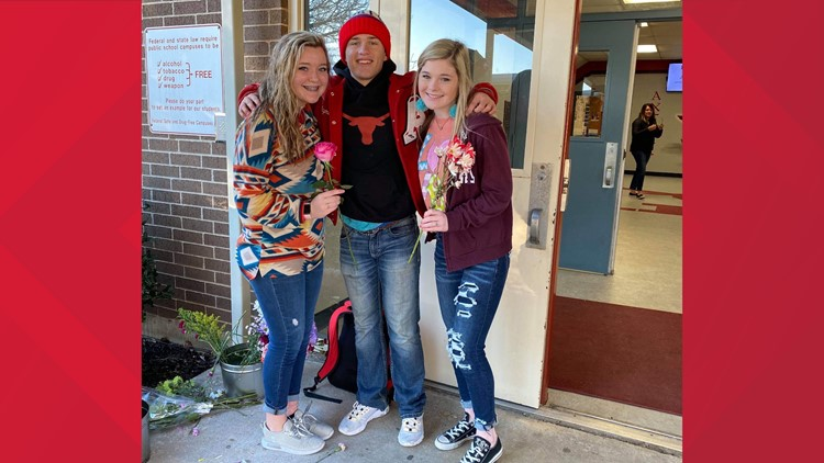 'What a precious heart he has'   Texas student gives every girl a flower on Valentine's Day