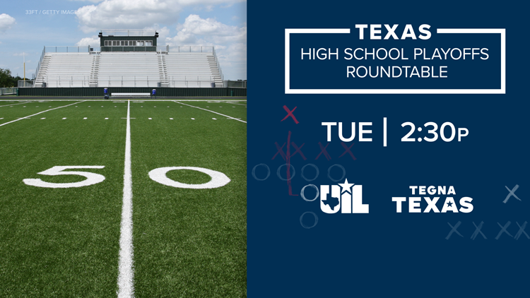 It's high school football playoff time in Texas. We're breaking down the road to the title
