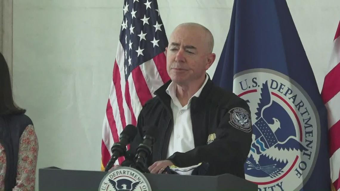 Homeland Security Secretary Mayorkas tours South Texas border processing center