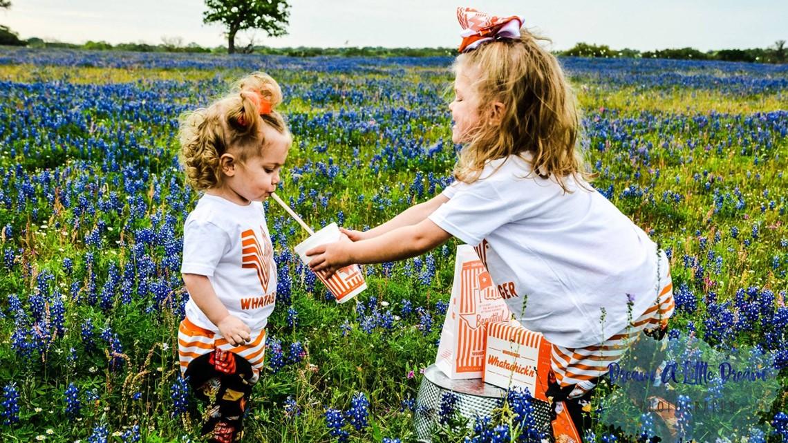 adorable whataburger bluebonnet photoshoot pairs texas