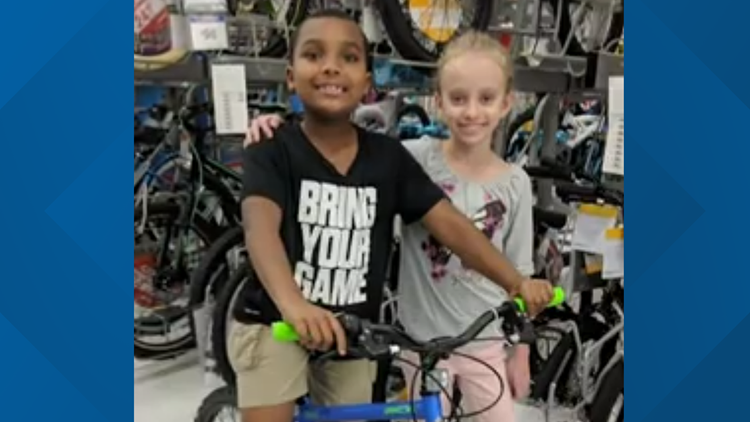 Nine-year-old uses her savings to buy her classmate a new bike