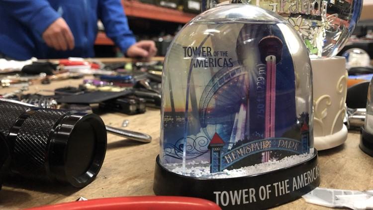 San Antonio Snow Globe