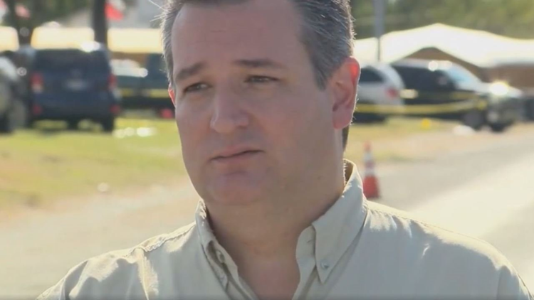Cruz spoke out after the deadliest mass shooting in Texas history and praised the citizen that engaged the shooter in gunfire.