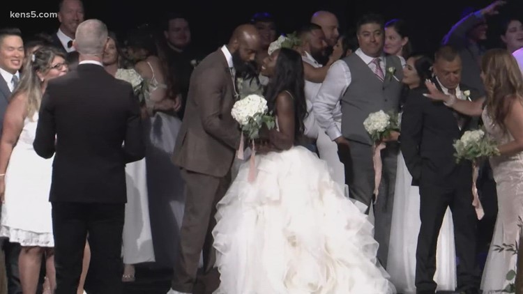 'A blessing we never saw coming': How San Antonio gained 58 newlyweds at the same time