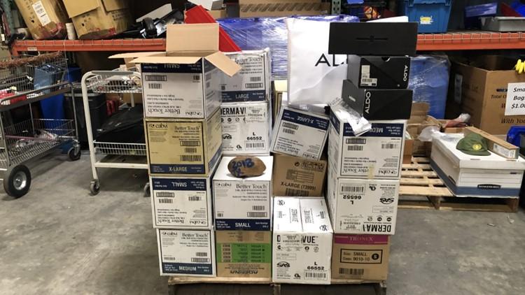 San Antonio Airport Boxes at Austin store