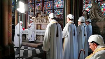 Notre Dame celebrates 1st Mass since devastating April fire