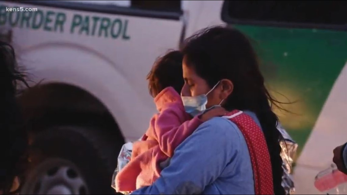 At the Texas-Mexico border, foot chases are as common as mothers hoping to help their young children