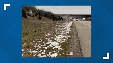 Dozens of toilet paper rolls found dumped alongside I-49 in Arkansas