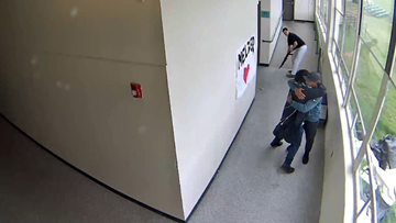 Watch: Powerful video shows security guard hugging Parkrose student moments after disarming him