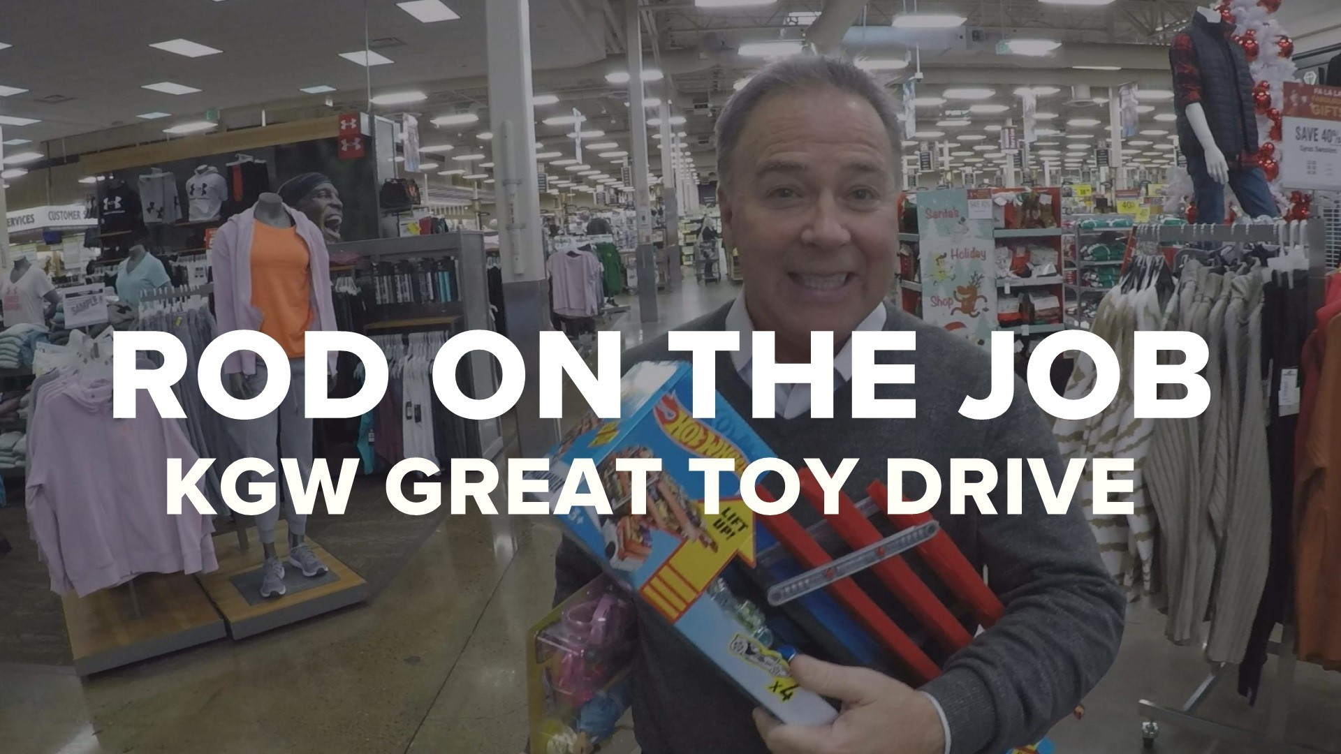 Rod On The Job Kgw Great Toy Drive Khou Com