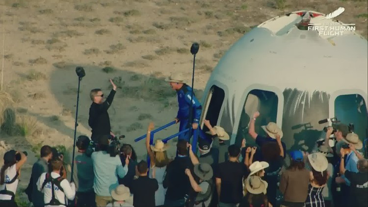 WATCH: New Shepard's manned crew exits capsule after historic journey to space