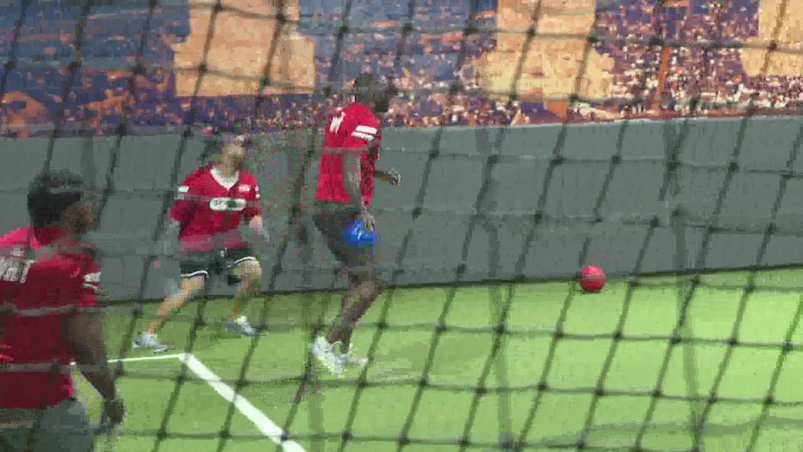 Current, former Texans participate in charity dodgeball tournament