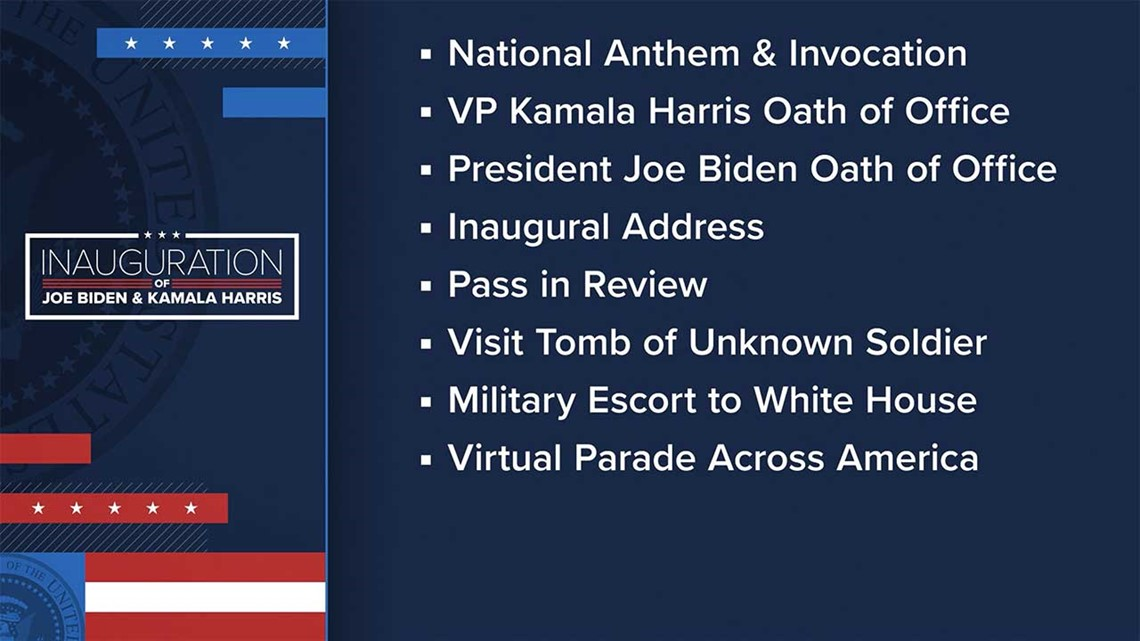 Inauguration Day 2021 Event Ceremony Schedule