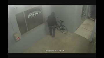 Man Caught Allegedly Trying To Steal Bike Outside Police Station
