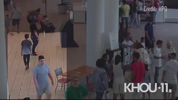 Raw: Video of person of interest in Memorial City Mall chaos