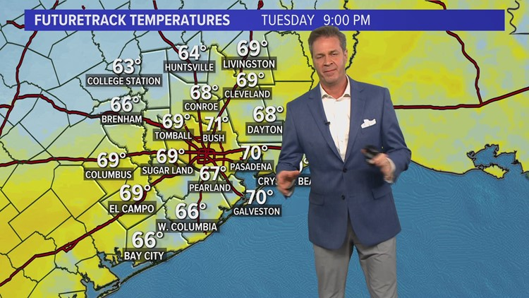 Cold front brings a chilly north breeze tonight